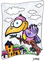 Illustration de la chanson pour enfants À la Volette. Une version d'un de nos illustrateurs pour enfants.