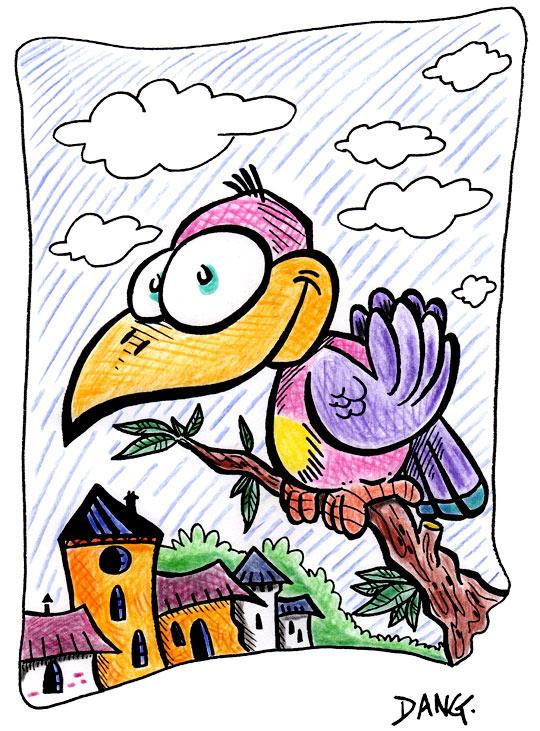 Illustration gratuite pour enfants les coloriages enfants for Oiseau par la couleur