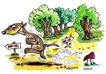 Illustration de la chanson pour enfants Le Furet. Une version d'un de nos illustrateurs pour enfants.