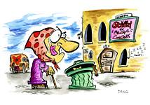 L'illustration pour enfants qui correspond au coloriage. Une création de l'illustrateur de presse Dang.