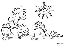 Le coloriage pour enfants qui correspond à l'illustration.