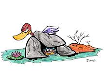 Illustration de la chanson pour enfants Berlingot le Crapaud. Une version de l'illustrateur pour enfants Dang.