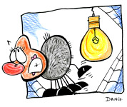 Illustration de la chanson pour enfants L'Araignée. Une version de l'illustrateur pour enfants Dang.