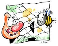 Coloriage de la chanson pour enfants L'Araignée. Une version de l'illustrateur pour enfants Dang