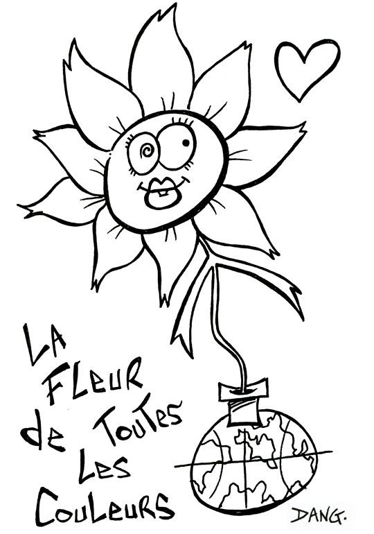 Dessin fleurs imprimer couleur - Coloriage fleur imprimer ...