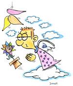 Illustration de la chanson pour enfants La Fleur de toutes les couleurs. Une version de l'illustrateur pour enfants Dang.