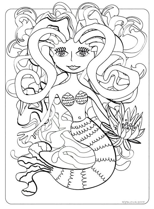 Coloriage a imprimer sirene - Sirene a colorier et imprimer ...