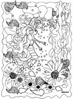 Illustrateur enfants Rydlova. Ce coloriage enfants correspond à l'illustration de la page.