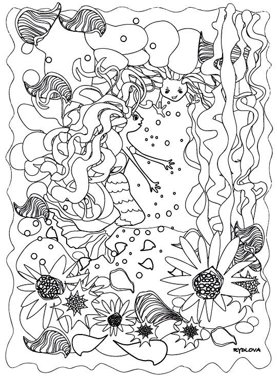 Dessin de sirenes coloriage - Sirene a colorier et imprimer ...