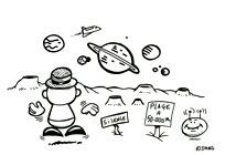 La fleur de toutes les couleurs. Coloriages du spectacle pour enfants Swing la Lune. Un coloriage de l'illustratrice enfants Rydlova.