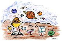 La fleur de toutes les couleurs. Illustrations du spectacle pour enfants Swing la Lune. Un dessin de l'illustratrice pour enfants Rydlova.