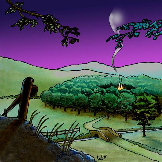 Coloriage Feu De Foret.Illustration De La Chanson Pour Enfants La Valse Des Loups