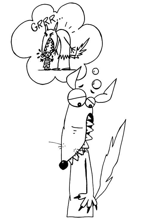 Couleurs, illustrez ce coloriage de la chanson pour enfants le loup