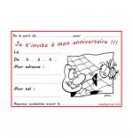 Coloriage Carte anniversaire pour enfant, l'araignée et le frelon