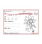 Coloriage Carte anniversaire pour enfant, la fleur de toutes les couleurs