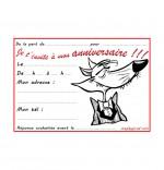Coloriage Carte anniversaire pour enfant, le loup en costume