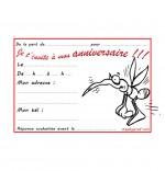 Coloriage Carte anniversaire pour enfant, petit moustique
