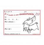 Coloriage Carte anniversaire pour enfant, une chauve-souris qui danse
