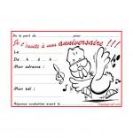 Coloriage Carte anniversaire pour enfant, une poule qui danse