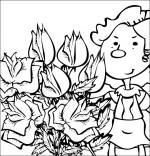 Coloriage Chanson À la Claire Fontaine, le bouquet de roses