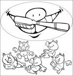 Chanson Bébé cochon, la brosse à dents