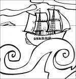 Coloriage Chanson Brave Marin, le marin revient de guerre
