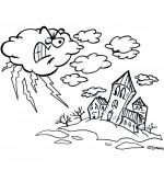Coloriage Chanson L'Orage, l'orage en colère gronde