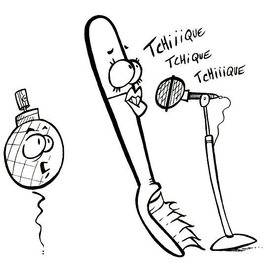 Coloriage pour enfants. Coloriage La Brosse à Dents, la brosse à dents chante, catégorie Chanson pour enfants La Brosse à Dents