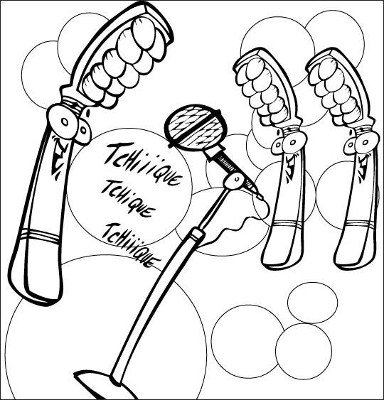 Coloriage pour enfants. Coloriage La Brosse à Dents, les brosses à dents chantent, catégorie Chanson pour enfants La Brosse à Dents