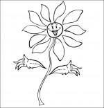 Coloriage Chanson La Fleur de toutes les Couleurs, la fleur