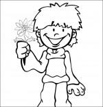 Coloriage Chanson La Fleur de toutes les Couleurs, pour toi maman