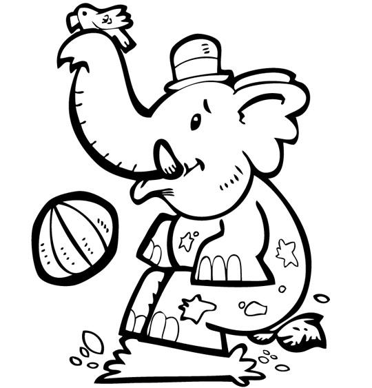 Coloriage Chanson La Marche des Éléphants, bébé éléphant joue dans la boue
