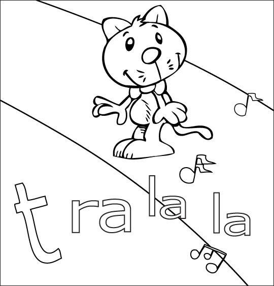 Coloriage pour enfants. Coloriage La mère Michel, le chat que l'on cherche partout, thème Chat