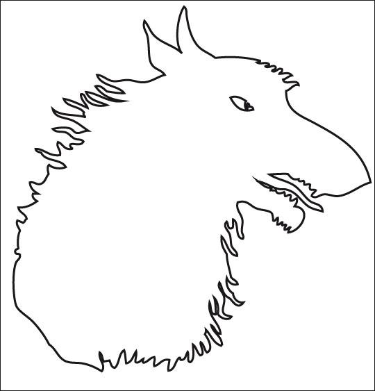 Coloriage pour enfants. Coloriage Le Loup Sympa, ombre de loup, catégorie Chanson pour enfants Le Loup Sympa