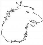 Coloriage Chanson Le Loup Sympa, ombre de loup