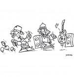 Coloriage Chanson Le Rap du Poulailler, le groupe de rap