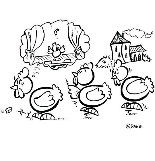 Coloriages et dessins pour les enfants sur le th me poule - Dessin de poules ...