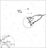 Chanson Madame Fusée, la fusée est dans l'espace