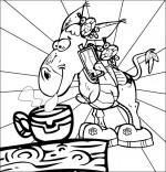 Chanson Mon âne, l'âne boit son chocolat chaud