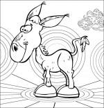 Coloriage Chanson Mon âne, mon bel âne gris que j'aime !