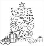 Chanson Mon beau sapin, le sapin de Noël illuminé avec les cadeaux