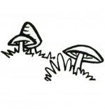 Coloriage Chanson Promenons-nous dans les bois, trois champignons