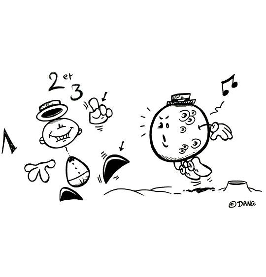 Coloriage pour enfants. Coloriage Swing la Lune, je danse avec la lune, catégorie Chanson pour enfants Swing la Lune