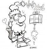 Coloriage Chansons de Noël, le cadeau farceur