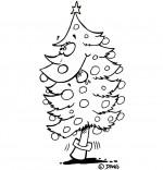 Chansons de Noël, le sapin de Noël qui tire la langue