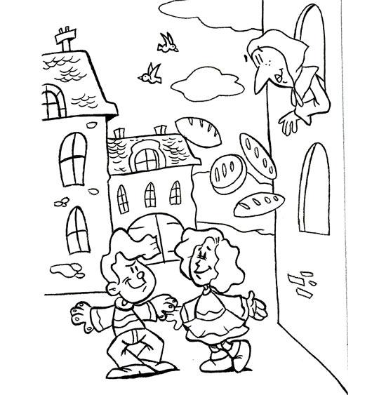 Cat gorie comptine dansons la capucine des coloriages et des dessins pour les enfants - Coloriage fleur capucine ...
