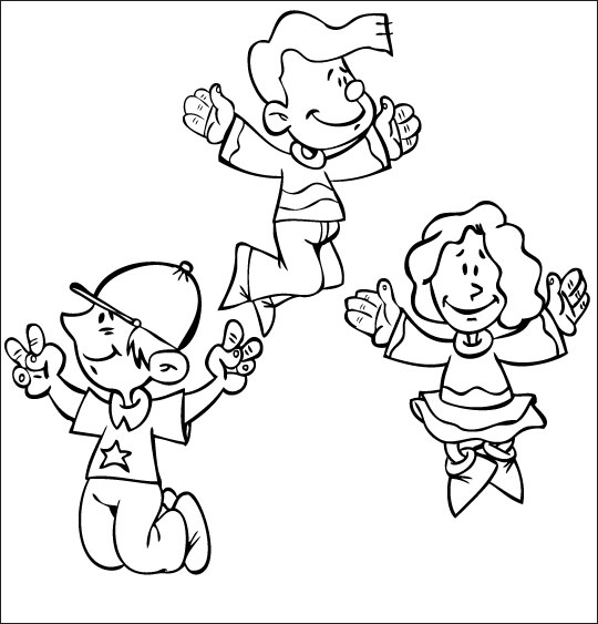 Coloriage Comptine Dansons la capucine, sautons en l'air, you