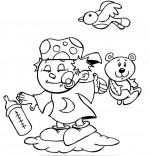 Comptine Fait dodo Colas mon petit frère, un bébé sur un nuage