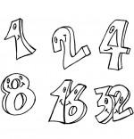 Coloriage Comptine Un et un deux, c'est heureux, 1, 2, 4, 8, 16, 32
