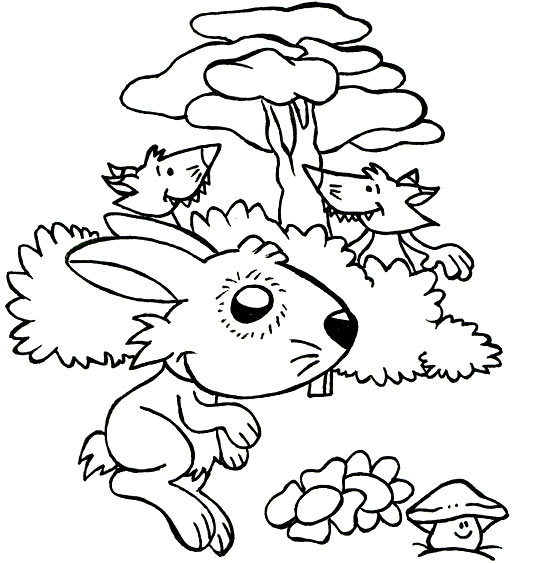 Coloriage comptine un petit lapin coloriage comptine un - Coloriage petit renard ...